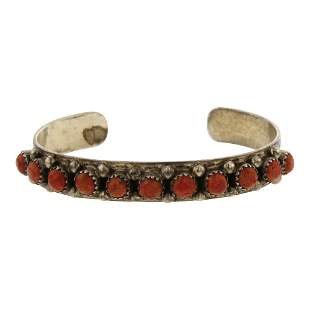 John Mike Vintage Pawn Sponge Coral Row Bracelet