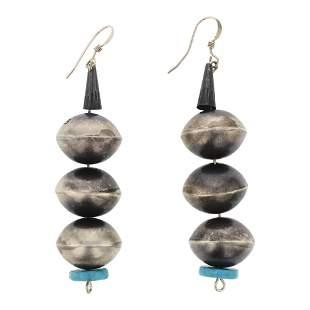 Navajo Pearls Bench Beads Earrings