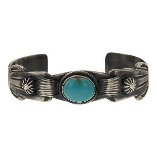 Mary Cayatineto Nevada Turquoise Cuff Bracelet