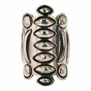 Alex Sanchez Navajo Plain Silver Bump Out Ring