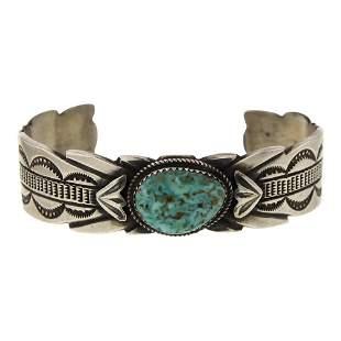 Mary Cayatineto Turquoise Cuff Bracelet