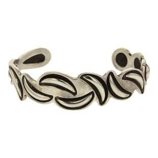 Alex Sanchez Plain Silver Bump Out Cuff Bracelet