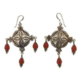 Michael Calladito Coral Earrings