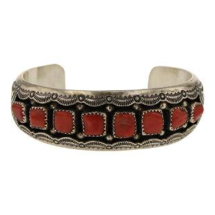 Wilbert Musket Branch Coral Shadowbox Cuff Bracelet