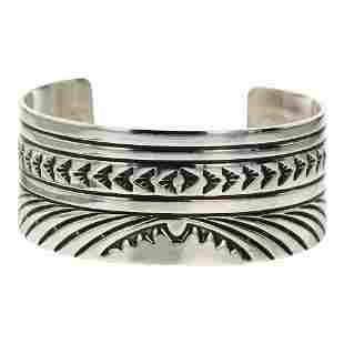 Rick Enriquez Plain Silver Cuff Bracelet