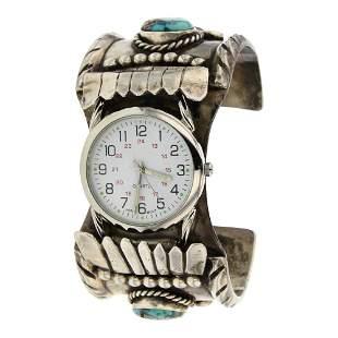 Nevada Turquoise Watch Cuff Bracelet