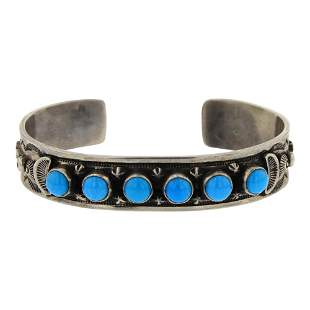 Randall Tom Sleeping Beauty Turquoise Cuff Bracelet