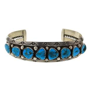 Sarah Curley Kingman Turquoise Cuff Bracelet