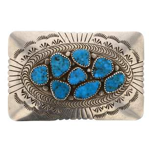 Spencer Kingman Turquoise Belt Buckle