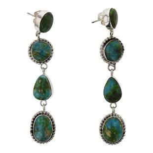 Navajo Sonoran Gold Turquoise Earrings
