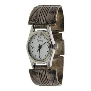 Vintage Pawn Silver Watch Bracelet