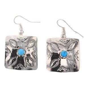 Eunice J. Tso Turquoise Earrings