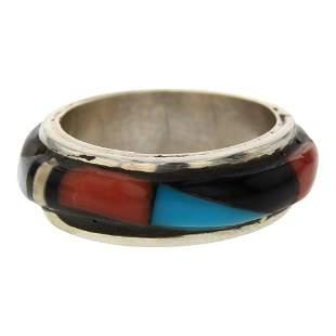 Zuni Inlay Mixed Stone Ring