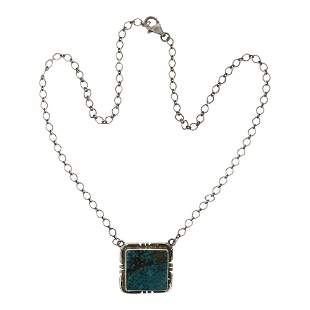 Peggy Skeets Turquoise Bar Necklace