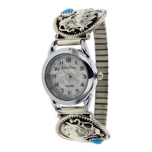 Turquoise Eagle Watch Bracelet