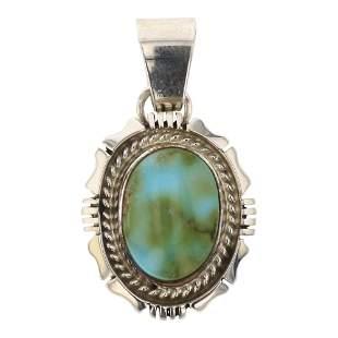 Navajo Sonoran Mountain Turquoise Pendant
