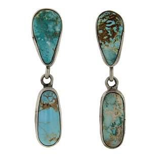 Nevada Turquoise Long Earrings