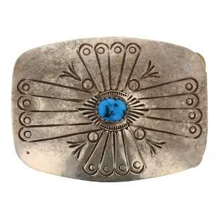 Kingman Turquoise Belt Buckle