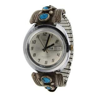 Vintage Pawn Turquoise Watch Bracelet