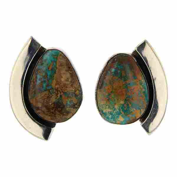 Paul Livingston Royston Turquoise Earrings