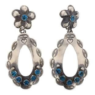 Kingman Turquoise Bump out Earrings