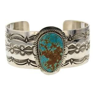 John Nelson Nevada Turquoise Cuff Bracelet