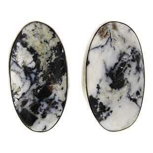 Timothy Yazzie White Buffalo Earrings