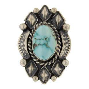 Jeff James Jr. Blue Moon Turquoise Ring