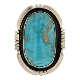 Edward Benally Nevada Turquoise Ring