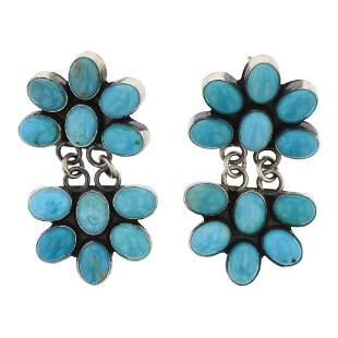 Navajo Turquoise Chandelier Earrings