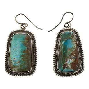 Bobby Johnson Nevada Turquoise Earrings