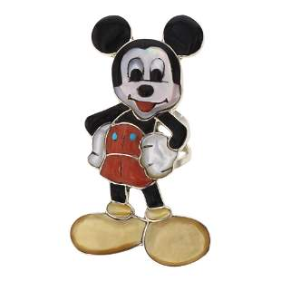 Don Dewa Zuni Inlay Full Mickey Mouse Ring