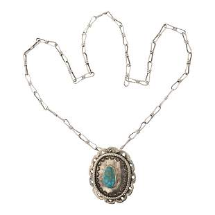 High horse Vintage Turquoise Necklace