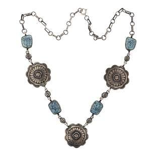 Spiderweb Turquoise Necklace