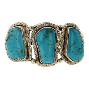 Vintage Pawn Freeform Turquoise Bracelet
