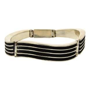 Bahe Navajo Contemporary Plain Silver Bracelet
