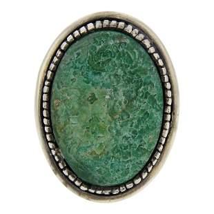 Danny Clark Turquoise Heavy Bezel Ring