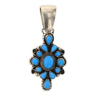 Paul Livingston Sleeping Beauty Turquoise Pendant