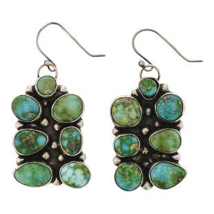 Sonoran Gold Turquoise Puzzle Piece Earrings