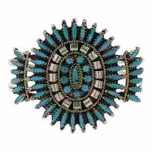 Nathaniel & Rosemary Nez Turquoise Cluster Bracelet