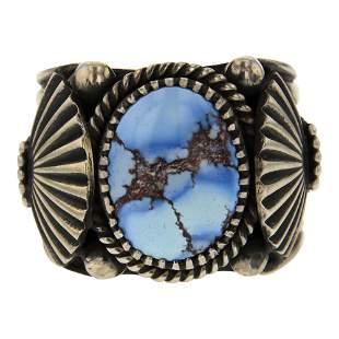 Derrick Gordon Golden Hill Turquoise Deep Stamp Ring