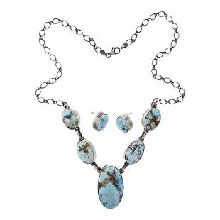 Golden Hill Turquoise Necklace & Earrings Set