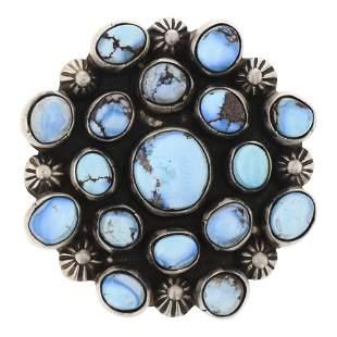 Kathleen Chavez Golden Hill Turquoise Ring