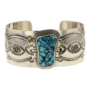 John Nelson Freeform Turquoise Cuff Bracelet