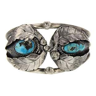 Old Pawn Turquoise Leaf work Bracelet