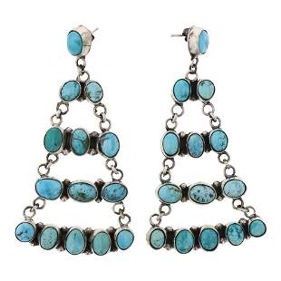 Ella Peters Turquoise Chandelier Earrings