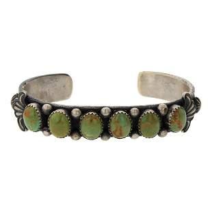 Kevin Billah Green Turquoise Cuff Bracelet