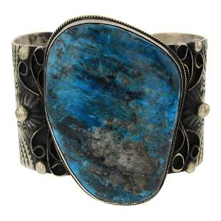 Chimney Butte Turquoise Large Stone Cuff Bracelet