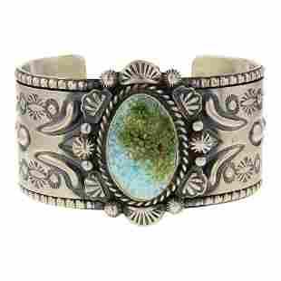 Jeff James Jr. Sonoran Mountain Turquoise Cuff Bracelet