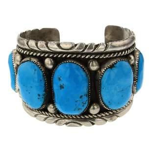 Vintage Pawn Robert & Bernice Leekiya Zuni Turquoise